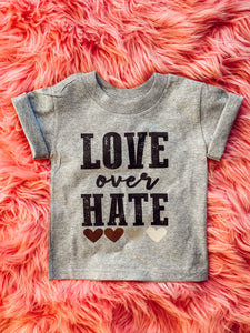 love over hate tee - kids