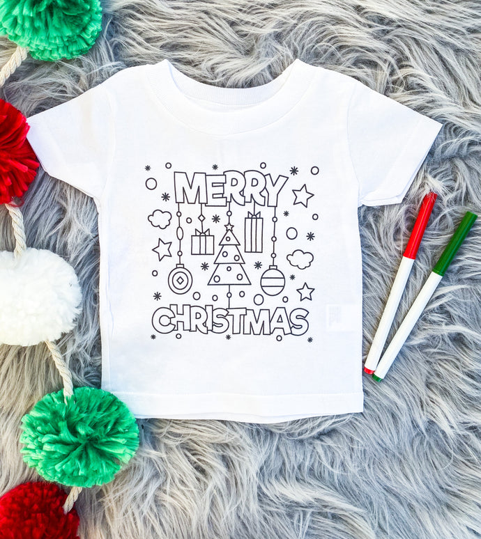 DIY coloring tee - merry Christmas