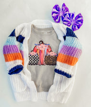 multi colorblock knit cardigan