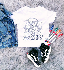 DIY COLOR YOUR OWN SHIRT - howdy