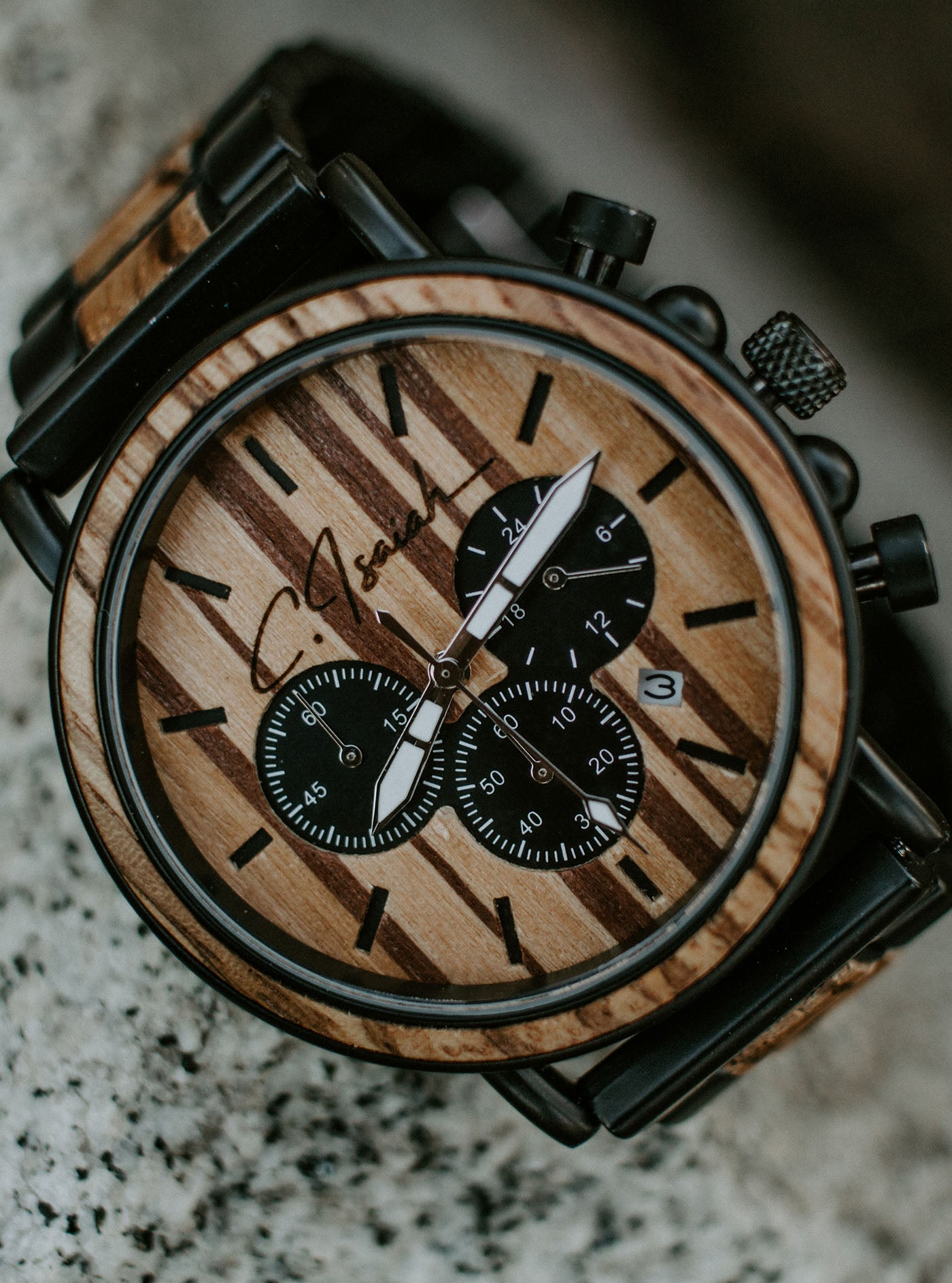 The Carter - Wooden Watch, Wooden Watch for Men, [Gifts for Men],- Carter Isaiah