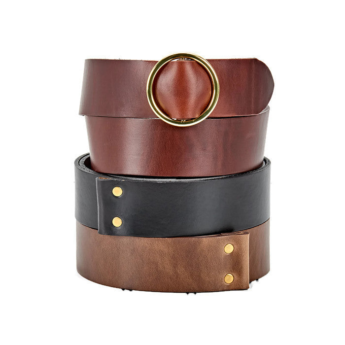 Ladies 3 in 1 Leather Belt