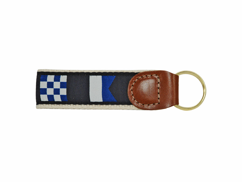 Code Flags Ribbon Key Fob