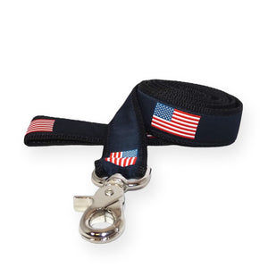 American Flag Ribbon Dog Lead