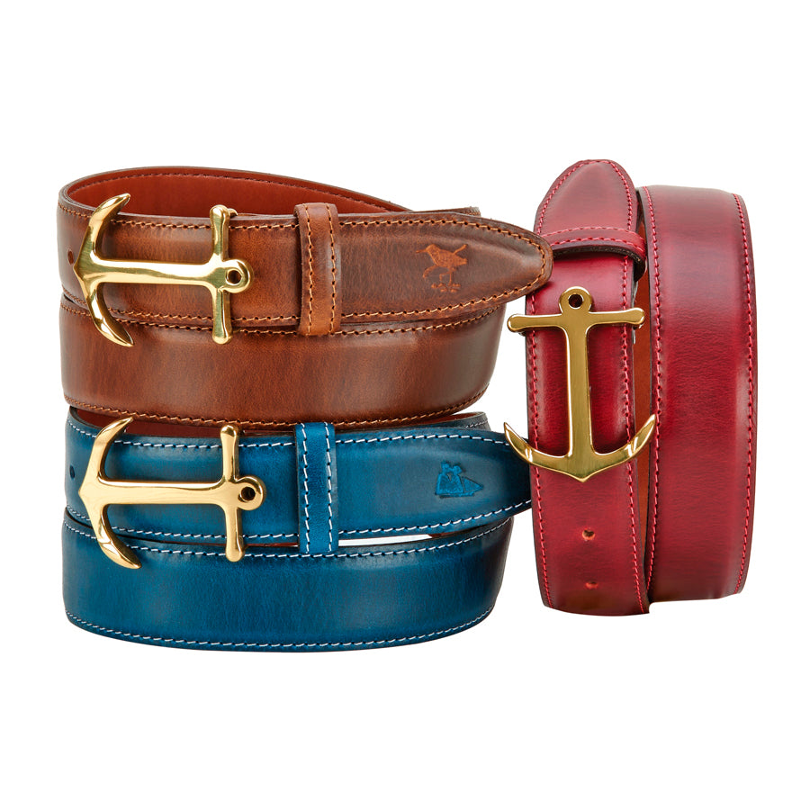 Ladies Anchor Buckle Belt