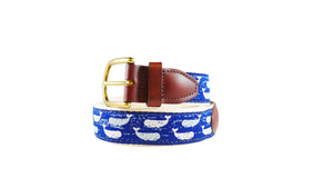Rustic Whales Ribbon Belt