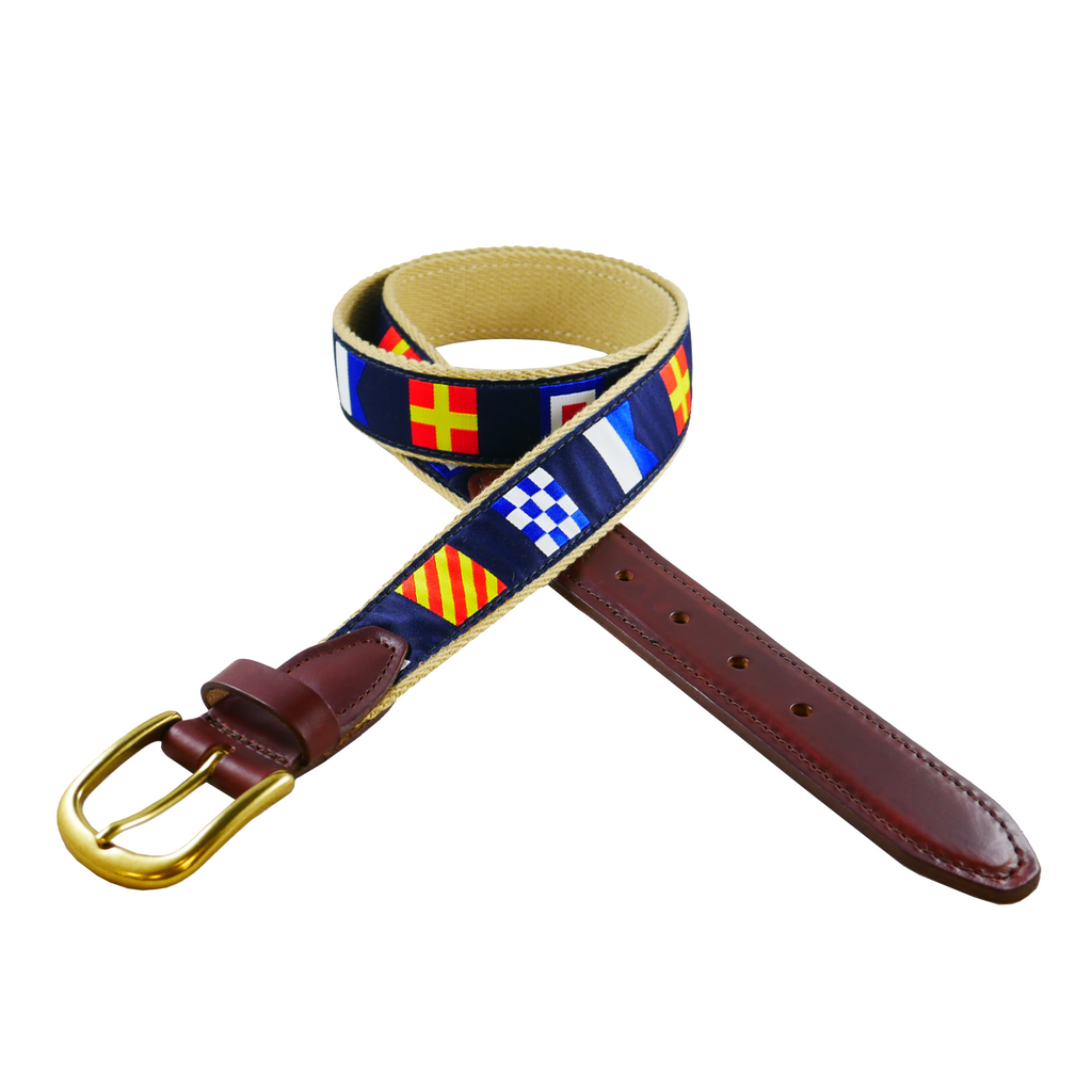 Navy Code Flags Custom Ribbon Belt