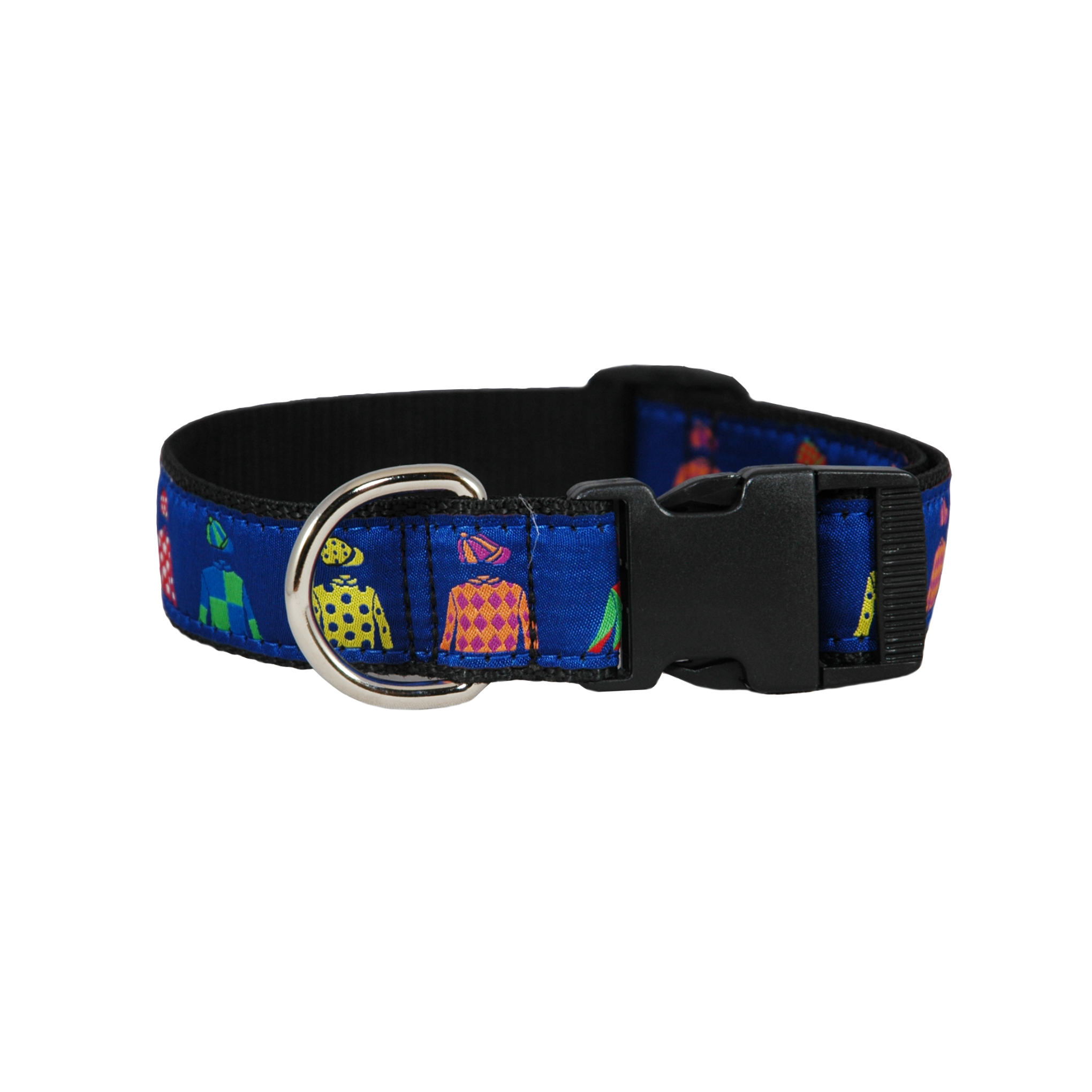 Jockey Silks Ribbon Dog Collar