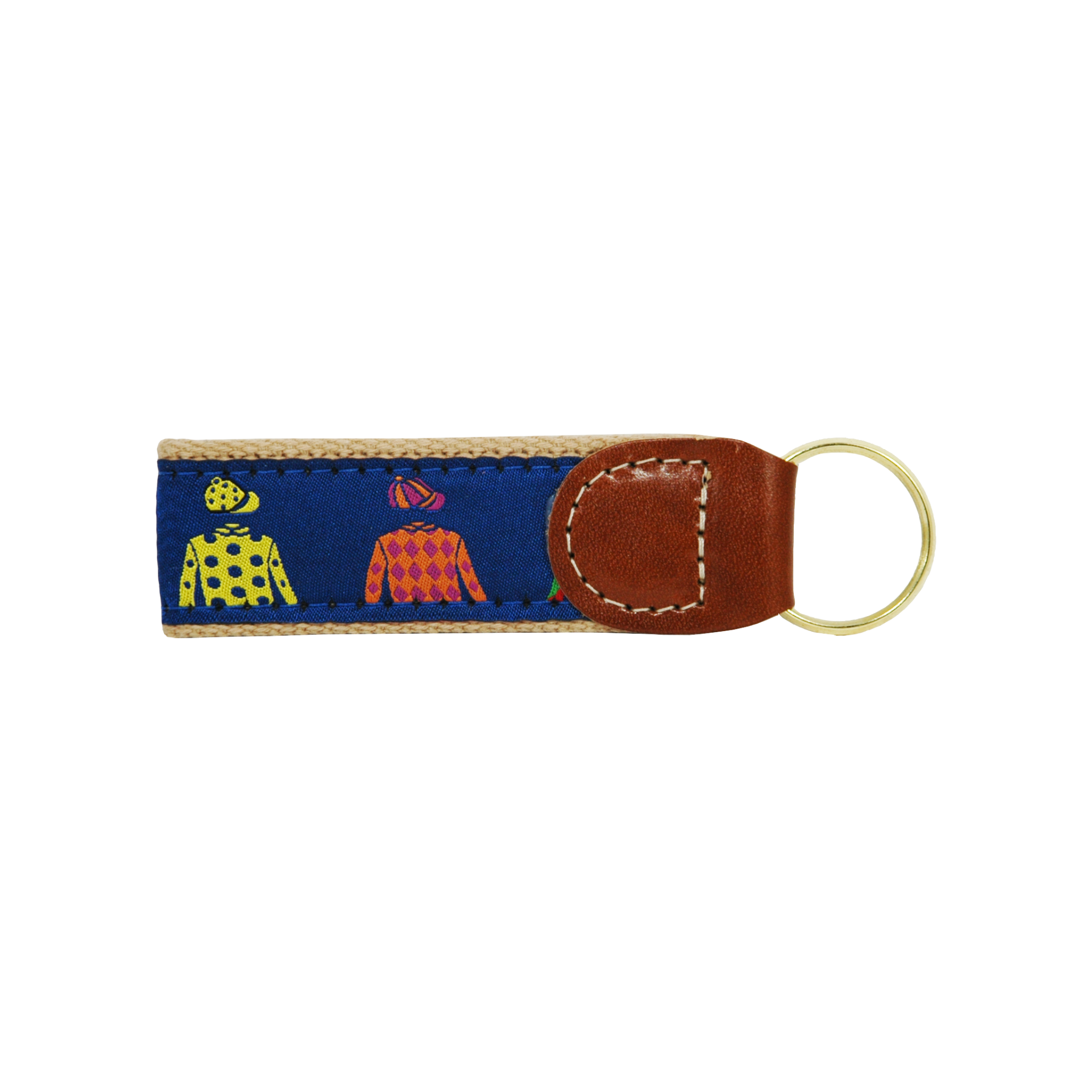 Jockey Silks Ribbon Key Fob