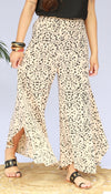 KRISHLA ANIMAL PRINT FLOAT PANTS -SML