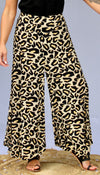 KRISHLA ANIMAL PRINT FLOAT PANTS -S-M