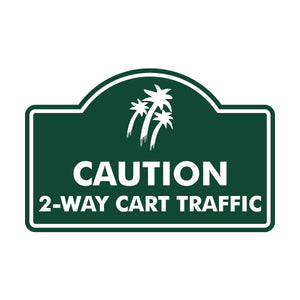Caution 2-Way Traffic Logo Sign
