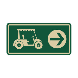 Carts Directional Sign 3