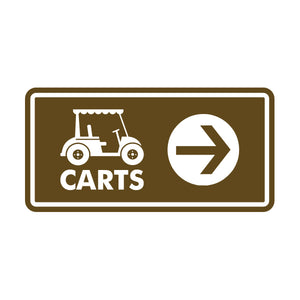 Carts Directional Sign 4