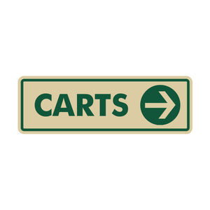 Carts Directional Sign 6