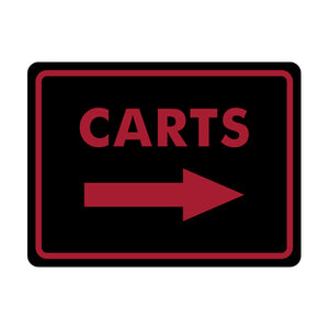 Carts Directional Sign 1