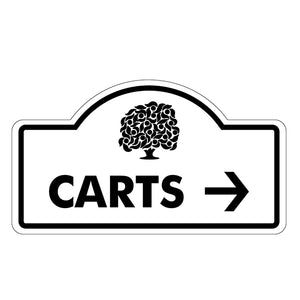 Carts Directional (Right) Sign