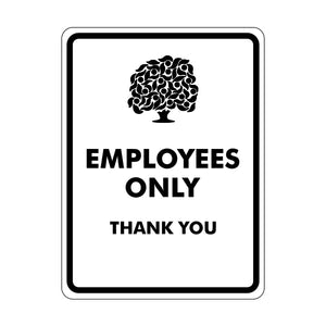 Employees Only Logo Sign
