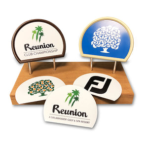 (SPECIAL OFFER) Custom Insert Tee Marker Set (36) - Half Round w/ Free Set of Inserts