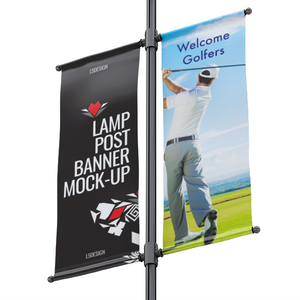 Lamp Post Banner (Double)