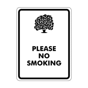 Please No Smoking Logo Sign