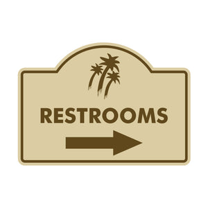 Restroom Directional Logo Sign
