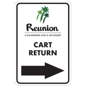 "Cart Return Right Directional Sign 12""x18"" Aluminum"