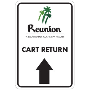 "Cart Return Ahead Directional Sign 12""x18"" Aluminum"
