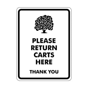 Please Return Carts Here Logo Sign