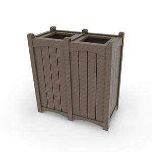 Top Load Trash Can Enclosure (Double)