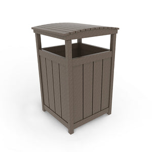 Trash Can Enclosure w/ Rounded Roof