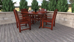 "48"" Square Dining Table w/ 4 Arm Chairs"