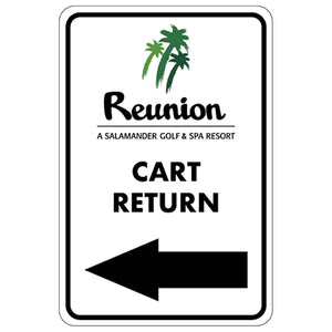 "Cart Return Left Directional Sign 12""x18"" Aluminum"