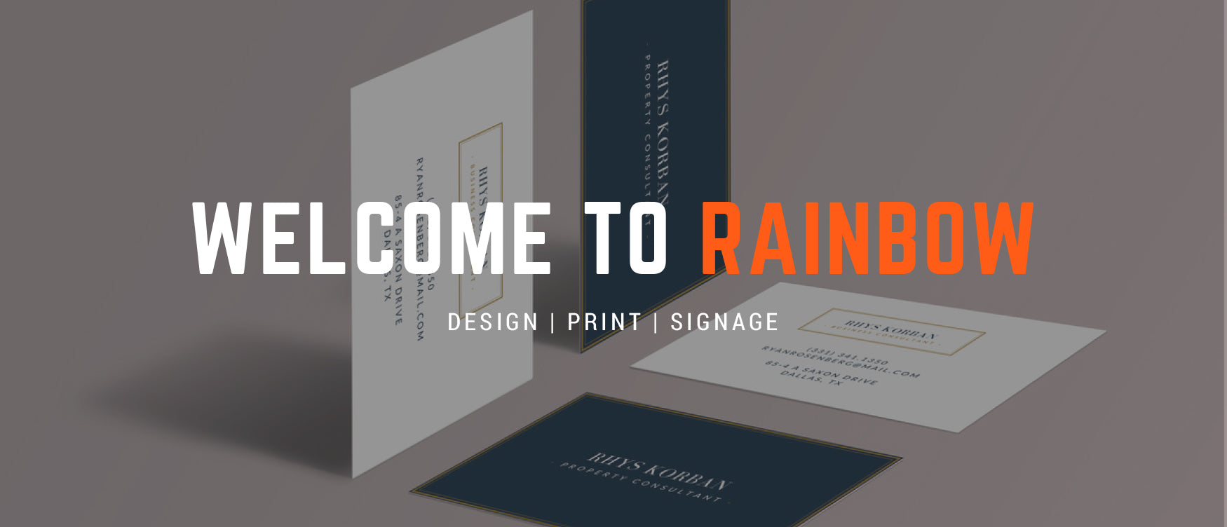 Rainbow print design print signage your local print shop 1 2 3 reheart Images