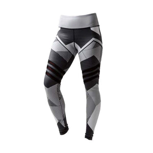 Legging graphique à empiècements - Blanc ou Gris - S à XL