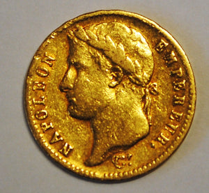 France 1812 A Gold 20 Francs  Napoleon I Paris Mint