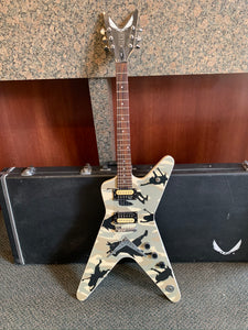 Dean Dimebag Electric Guitar w/ Hard Case-  Camo Black/Grey/White