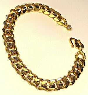 Heavy Mens 22k Solid Gold Mens Bracelet - 8.75 Inches - 62.3grams - 10.1mm