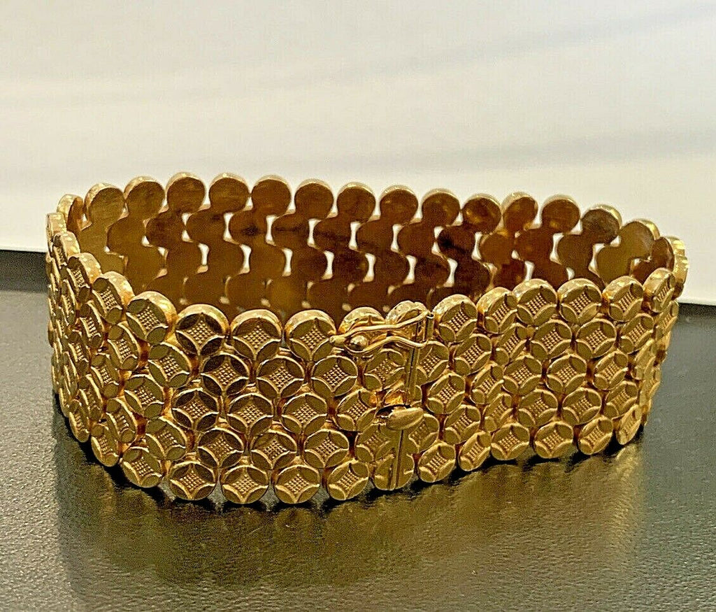 18k (750) Gold Ladies Bracelet 41.3 grams - 7 1/2 inches - 24.8mm