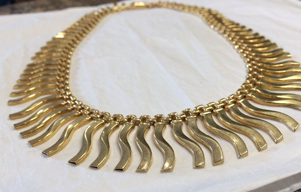 Estate 18k Gold Italian Necklace 15 Inch - 47.0 Grams