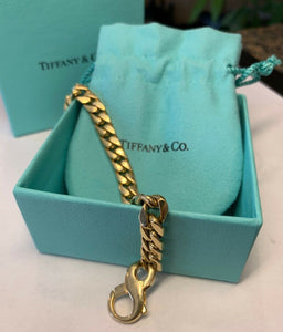 "Tiffany & Co. 18k 750 Unisex Bracelet 42.3 grams - 7 3/4"" - 7.14mm"