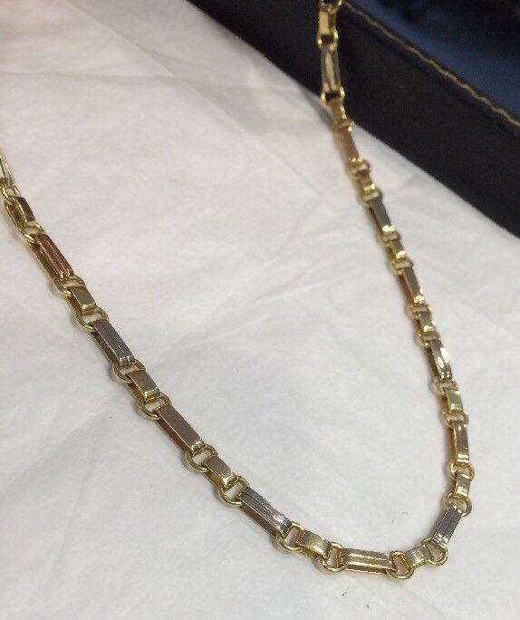 18k Gold Italian Biffi Necklace 17.5 Inch - 22.2 Grams