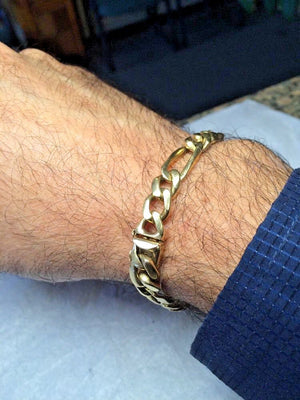 14k Solid Gold Men's Bracelet 8 Inches 36.0 Grams