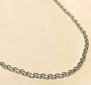 14k White Gold Cable Link Chain 18 Inch 4.1 grams, 1.9mm
