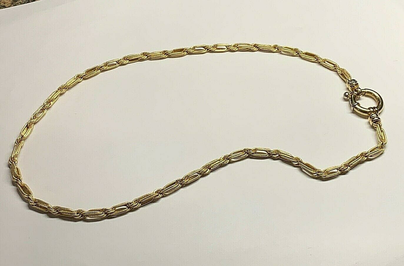 14k Yellow Gold Necklace 18 Inches 21.2 Grams