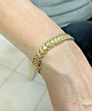 "14k Gold Ladies Bracelet - 14.8 Grams - 7.1"" - 9.3mm"