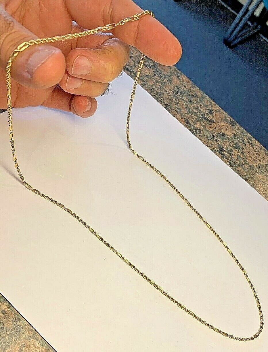 14k Gold Unique Rope Chain 26 Inch - 2.2mm - 10.1 Grams