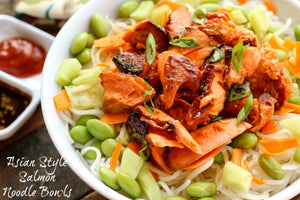 Asian Style Salmon Noodle Bowl