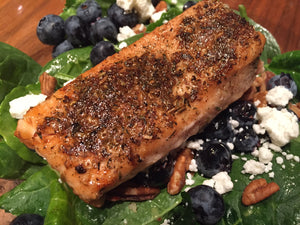 Blackened King Salmon