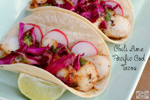 Chili Lime Pacific Cod Tacos